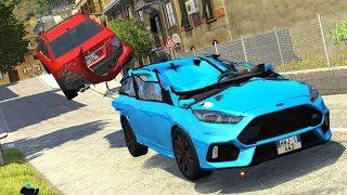 Download Crash Testing Real Car Mods #3 - BeamNG Drive Realistic Physics Video