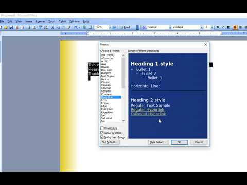 How to Apply Different Inbuilt Themes in MS Word
