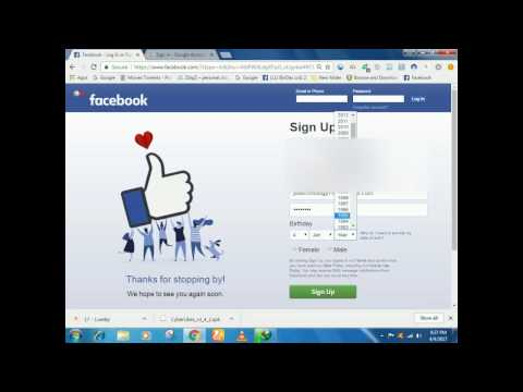 how to create a new facebook account with gmail new method 2017 in urdu hindi
