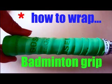 How to wrap badminton racket grip 2