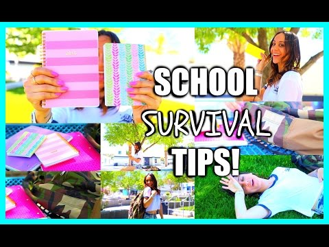 School Survival Tips!! Organization + Motivation To Stay Focused!