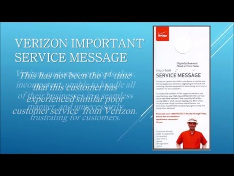 Verizon Important Service Message - Customer Service Experience