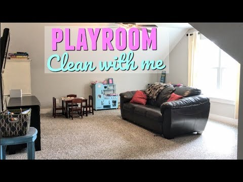 PLAYROOM CLEAN WITH ME AND REARRANGE WITH ME | CLEANING MOTIVATION
