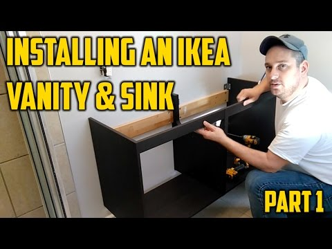 Installing an Ikea Vanity & Sink...Part 1