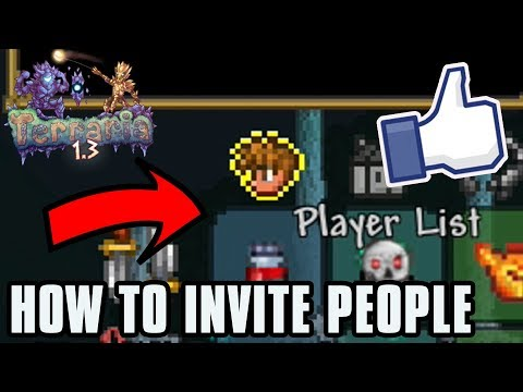 HOW TO INVITE PEOPLE TO GAME on Terraria 1.3 PS4 (Terraria 1.3 Console)