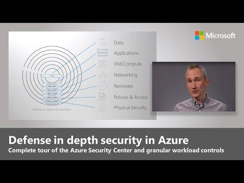 Defense in depth security in Azure