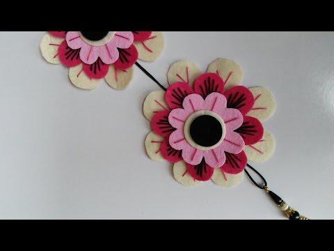 Flower Wall Decorations | Felt Anemone Brooch |  HandiWorks #60