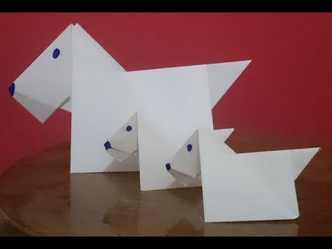 How To Make A Paper Dog Origami