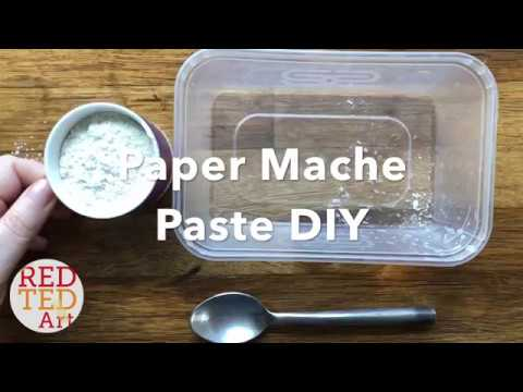 How to make Paper Mache Paste without glue - Fast Easy ONLY TWO INGREDIENTS Papier Mache Recipe.