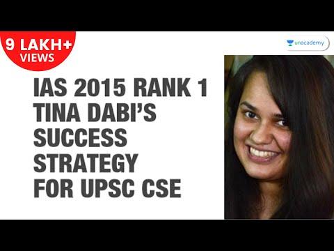 IAS 2015 Rank 1 Tina Dabi's Success Strategy for UPSC CSE: Study Plan, Booklist, Exam Strategy etc.