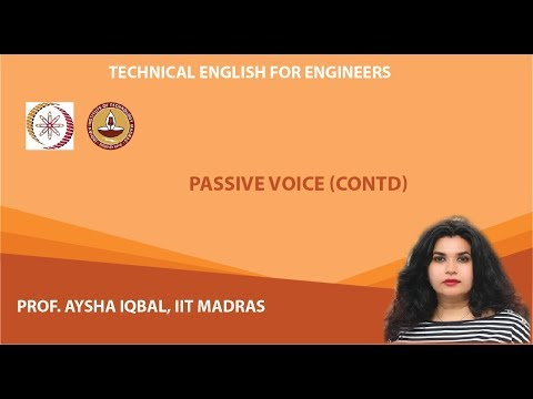 Lecture 13 - Passive Voice (Continued)