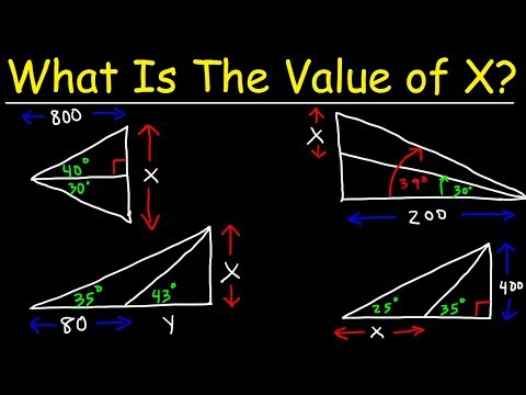 How To Solve Two Triangle Trigonometry Problems