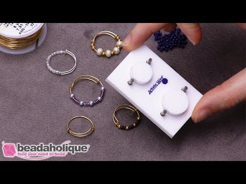 How to Make an Adjustable Beaded Ring Using the Artistic Wire Adjustable Ring Jig