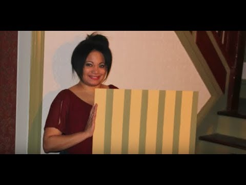 Step by step DIY for painting 70's paneling.