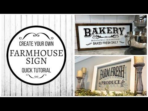 DIY FARMHOUSE SIGN | VINYL DECALS