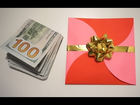 HOW TO MAKE A CUTE ENVELOPE FOR CASH GIFTS (BY CRAZY HACKER)
