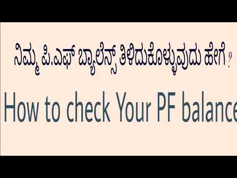 How to Check Your PF  Balance?