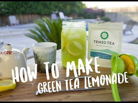 How to make green tea lemonade