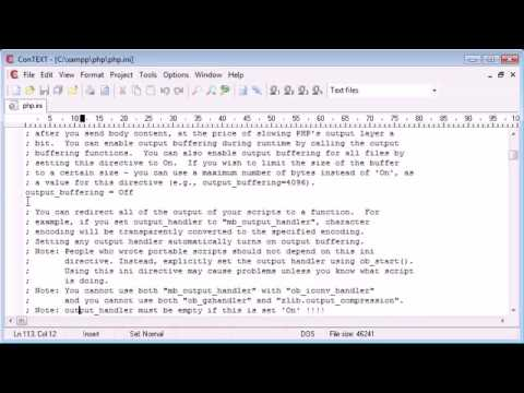 Beginner PHP Tutorial   7   The php ini File 