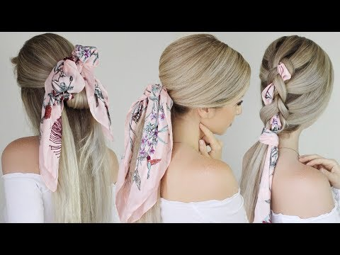 EASY HAIRSTYLES With a Scarf