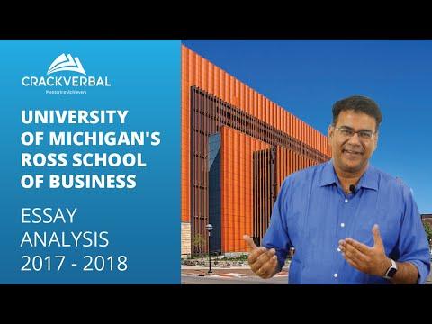 University of Michigan's Ross School of Business Essay Analysis 2017 - 2018