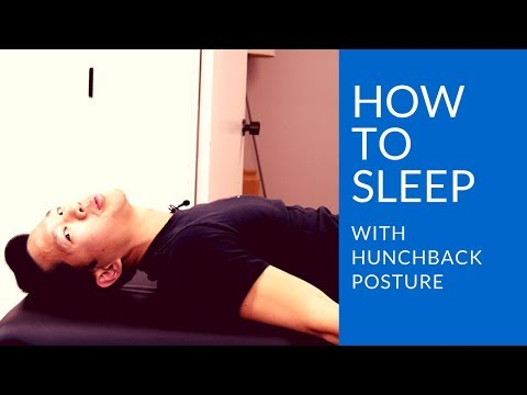 How to improve hunchback posture while you sleep: the best sleeping position