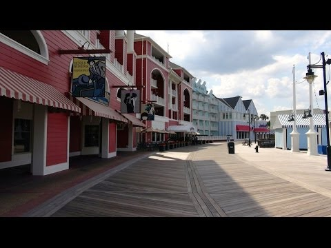 Disney's Boardwalk Shopping and Entertainment District 2014 Tour and Overview Walt Disney World