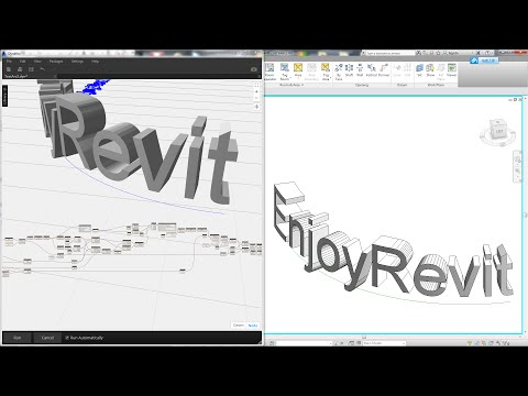 Revit Tips - Curved Text by Dynamo