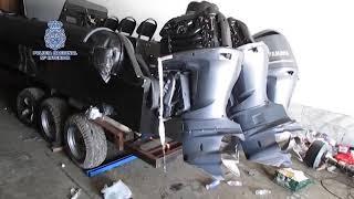 Incautadas 5 narcolanchas y 2.200 litros de combustible en La Línea