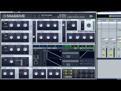 Basic Synthesis - Simple Synth Sweep in NI Massive