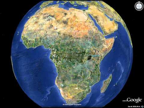 Google Earth Flyover from Longmont to Kenya