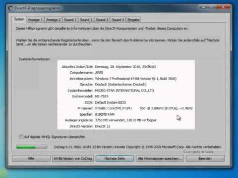Nutzen Sie die Schaltzentrale von DirectX - TUTORIAL
