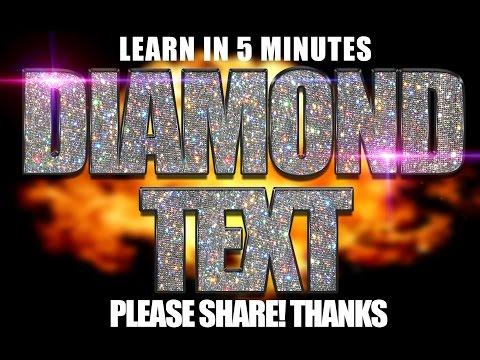 Mixtape Cover Art Design - Photoshop CC Tutorial PSD Diamond Text