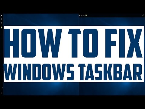 How to move the taskbar back to the bottom of the screen