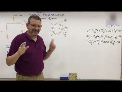 Solids: Lesson 38 - Stress Transformations using Equation Method