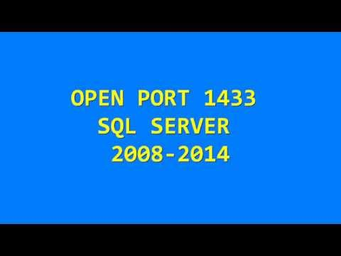 OPEN PORT 1433 SQL SERVER 2014 - Connecting from Another Computer (5 minutes)