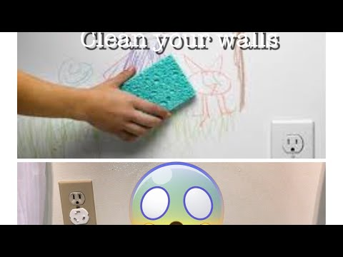 How to clean pen marks from wall/ erase crayon& sharpie marks/magic eraser