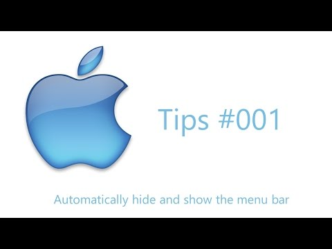 OSX Tips #1 Automatically hide and show the menu bar