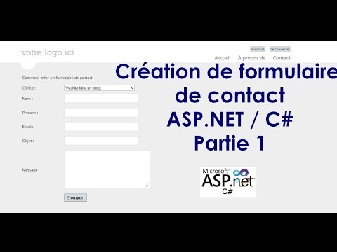 Création de formulaire de contact ASP.NET C# / Create contact form using asp net and c# - Partie 1 -