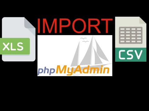 import xls or csv file to phpMyAdmin