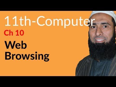 ICS Computer part 1, Ch 10, Web Browsing -ICS/FSC Part 1- 11th Class.