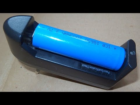 Clever but Dangerous 18650 Li-Ion Cell Charger (for $1)