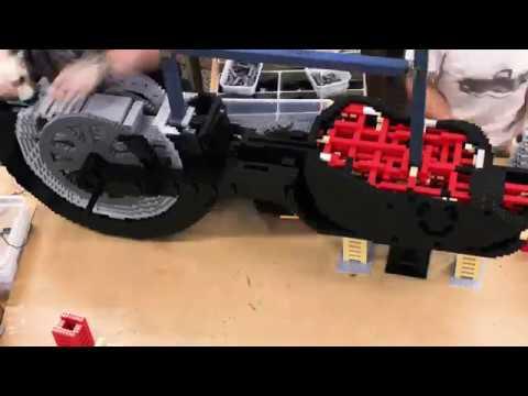 Building Awesome- life-size LEGO® brick Harley-Davidson motorbike
