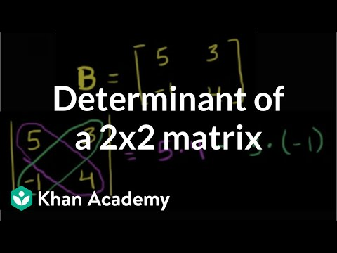 Finding the determinant of a 2x2 matrix | Matrices | Precalculus | Khan Academy