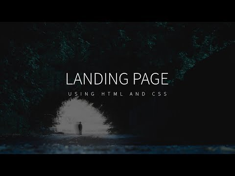 Full Screen Responsive Landing Page | HTML & CSS