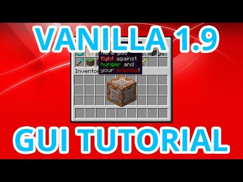 [Minecraft 1.9+] Vanilla GUI menu tutorial