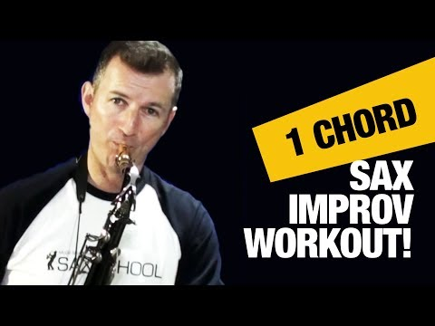Jazz saxophone lessons for beginners: The 1 Chord Improv Warmup by Nigel McGill