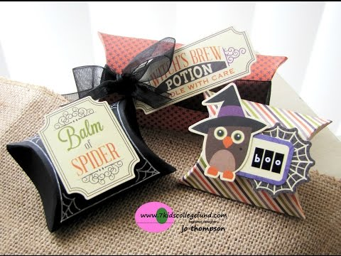 Owloween Treat Pillow Box Tutorial