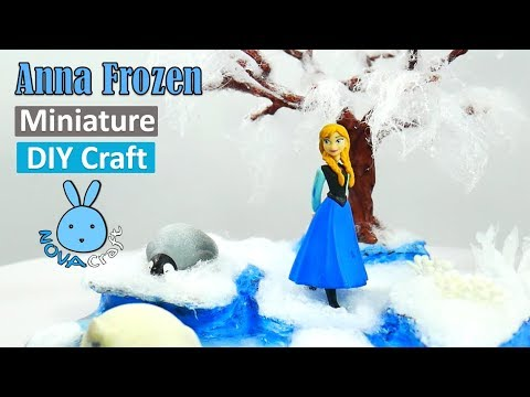 Anna frozen Under Snow Tree Hot Glue DIY  | Awesome Hot Glue DIY Life Hacks for Crafting Art #038