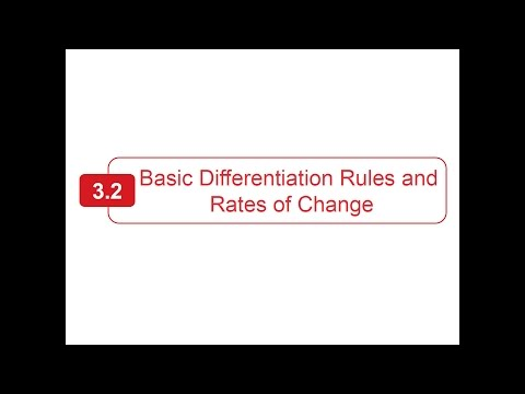 Section 3.2 - Larson Calculus - Basic Rules of Differentiation